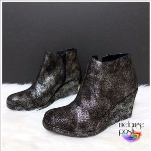 Rampage (Gunmetal) Wedge Booties